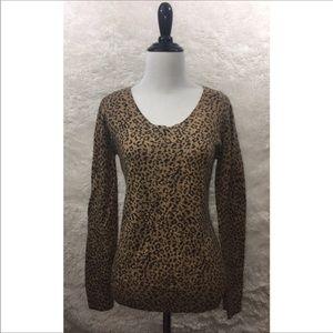 Calvin Klein - Leopard Print Sweater - Medium A16